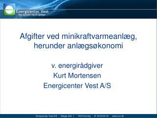 Afgifter ved minikraftvarmeanlæg, herunder anlægsøkonomi