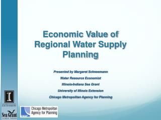 Economic Value of Regional Water Supply Planning