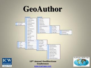10 th  Annual GeoElections Conference icwmaps
