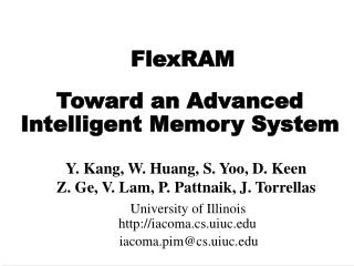 Toward an Advanced Intelligent Memory System