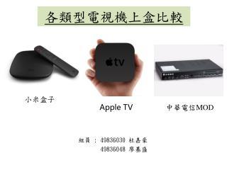 各類型電視機上盒比較