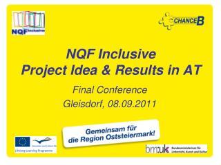 NQF Inclusive Project Idea & Results in AT