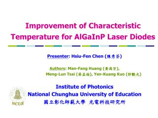 Improvement of Characteristic Temperature for AlGaInP Laser Diodes