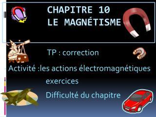Chapitre 10   le magnétisme