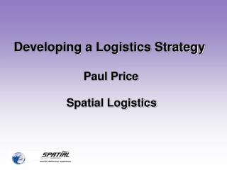 Developing a Logistics Strategy