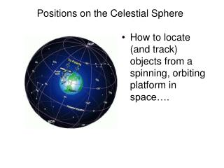 Positions on the Celestial Sphere