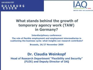 What stands behind the growth of temporary agency work (TAW)  in Germany?