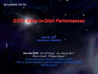 GOCI: Early  In-Orbit Performances