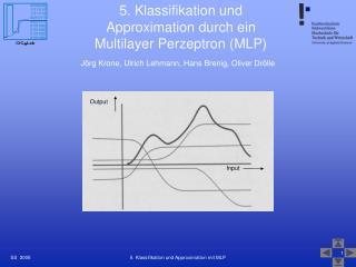 5. Klassifikation und Approximation durch ein Multilayer Perzeptron (MLP)