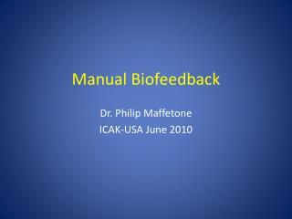 Manual Biofeedback