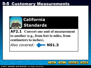 California  	   Standards