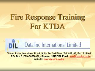 Fire Response Training For KTDA