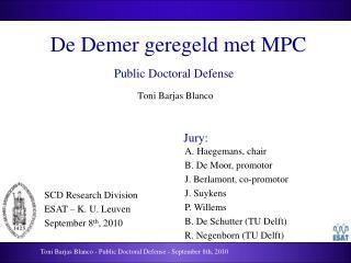 De Demer geregeld met MPC