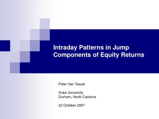 Intraday Patterns in Jump Components of Equity Returns
