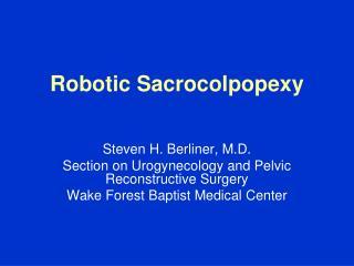 Robotic Sacrocolpopexy