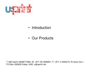Introduction Our Products