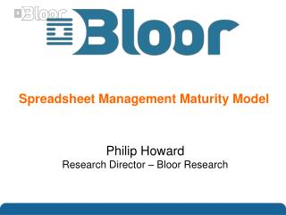 Spreadsheet Management Maturity Model