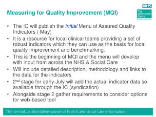Measuring for Quality Improvement (MQI)