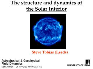 The structure and dynamics of the Solar Interior