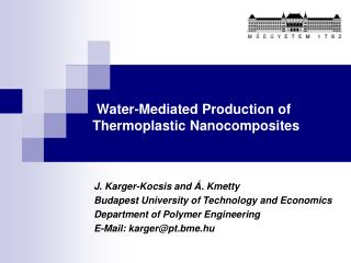 Water-Mediated Production of Thermoplastic Nanocomposites