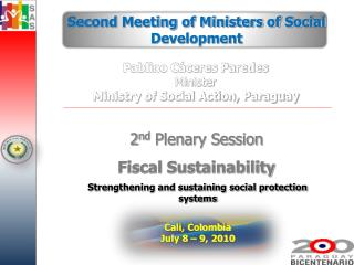 Strengthening and sustaining social protection systems