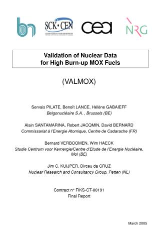 Validation of Nuclear Data for High Burn-up MOX Fuels