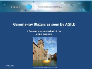 Gamma-ray Blazars as seen by  AGILE I.  Donnarumma  on  behalf of  the  AGILE AGN WG