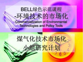 BELL 绿色示范课程 - 环境技术的市场化 Commercialization of Environmental Technologies and Policy Tools
