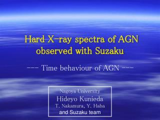 Hard X-ray spectra of AGN observed with Suzaku