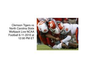 Clemson Tigers vs North Carolina State Wolfpack Live Stream
