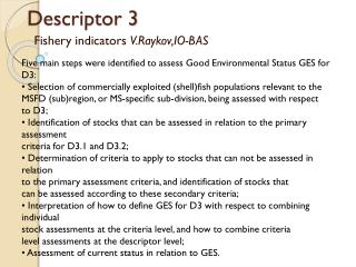 Descriptor 3