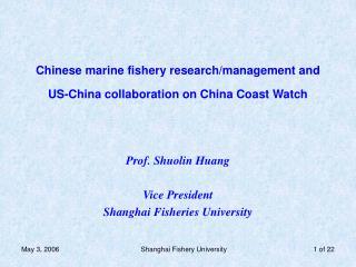 Chinese marine fishery research