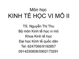 M�n h?c KINH T? H?C VI M� II