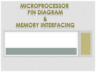 Microprocessor  Pin diagram & Memory interfacing