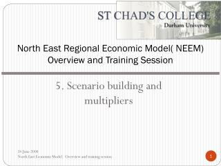 North East Regional Economic Model( NEEM) Overview and Training Session