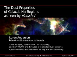 The Dust Properties of Galactic H II  Regions as seen by  Herschel