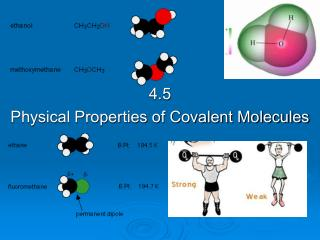 4.5  Physical Properties of Covalent Molecules