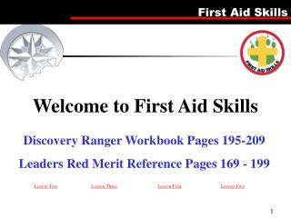 Discovery Ranger Workbook Pages 195-209 Leaders Red Merit Reference Pages 169 - 199