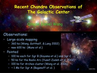 Recent Chandra Observations of The Galactic Center