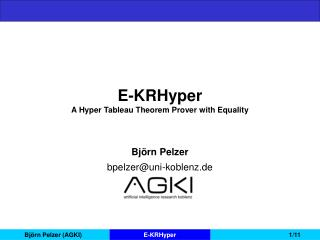 E-KRHyper A Hyper Tableau Theorem Prover with Equality