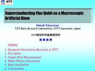 Hideaki Takayanagi  NTT Basic Research Laboratories, NTT Corporation, Japan