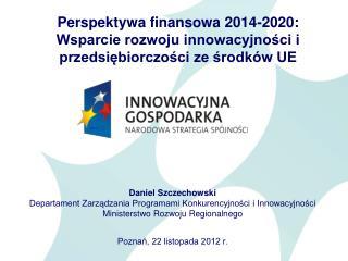 Perspektywa finansowa 2014-2020: