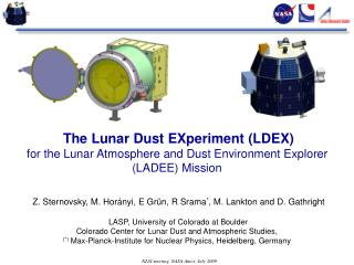 The Lunar Dust EXperiment (LDEX)