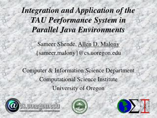 Integration and Application of the TAU Performance System in Parallel Java Environments
