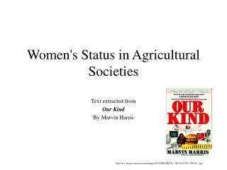 Women's Status in Agricultural Societies