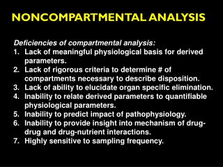 NONCOMPARTMENTAL ANALYSIS