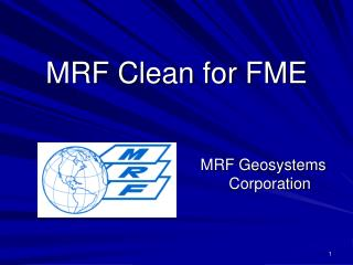 MRF Clean for FME
