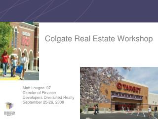Colgate Real Estate Workshop