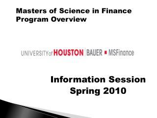 Information Session   Spring 2010