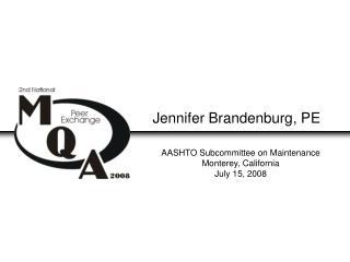 Jennifer Brandenburg, PE